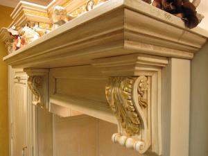 Okrasne podporne konzole iz rimske renesanse v kuhinji Rustika Masiva d.o.o.