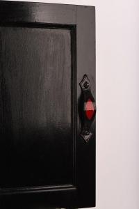Rdeče črna kombinacija usnjenega pohištvenega ročaja dddesign.si