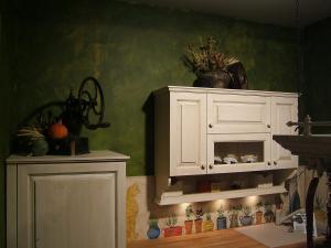 Dekoracija v podeželski kuhinji